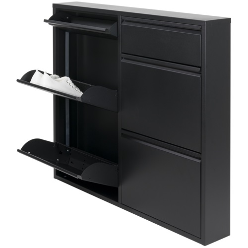 Spinder Design Billy 6 Shoe cabinet with 6 compartments 98x15x86 - Black