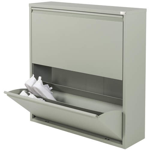 Spinder Design Billy 2 Shoe cabinet with 2 compartments 75x22.5x75 - Olive green
