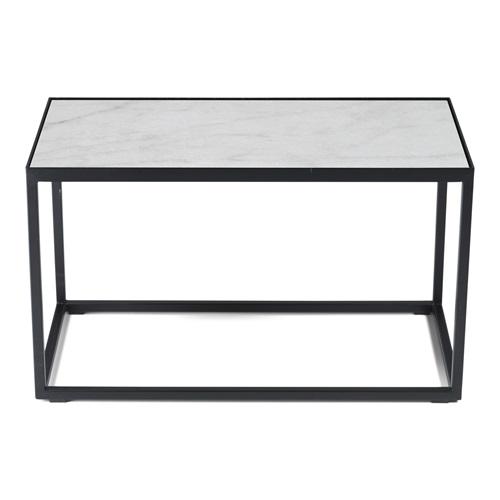 Spinder Design Tijl Beistelltisch 60x30x35 - Schwarz/Weiß