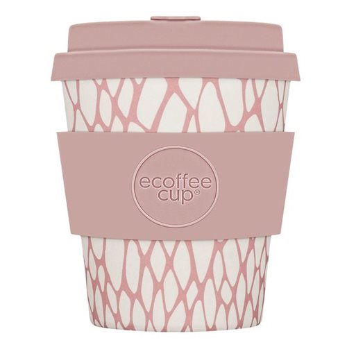 Ecoffee Cup Chelmsford Cougar - Bamboe Beker - 250 ml - met Lichtroze Siliconen