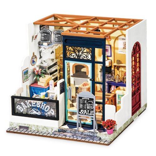 Robotime Nancys Bäckerei DG143 - Holzmodellbau - Puppenhaus mit LED-Licht - DIY
