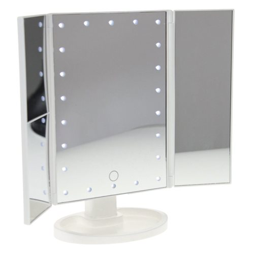 United Entertainment Luxury Touch Screen LED Light Make-Up Mirror - White