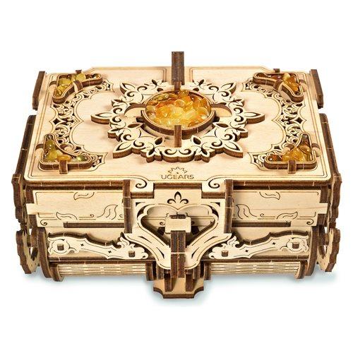 Ugears Wooden Model Kit - Antique Box with Amber