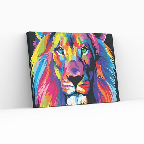 Best Pause Neon King - Paint by number - 40x50 cm - DIY Hobby Kit
