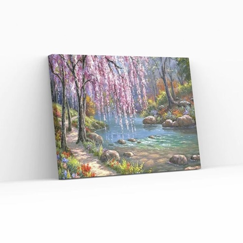 Best Pause Garden Of Eden - Paint by number - 40x50 cm - DIY Hobby Kit