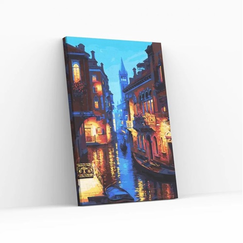 Best Pause Abend in Venedig - Malen nach Zahlen - 40x50 cm - DIY Kit