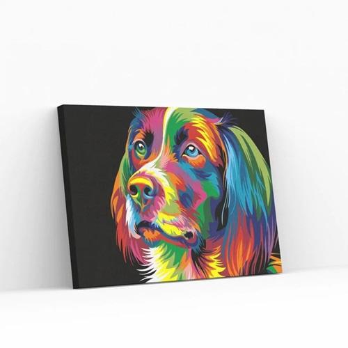 Best Pause Hond multikleur - Schilderen op nummer - 40x50 cm - DIY Hobby Pakket