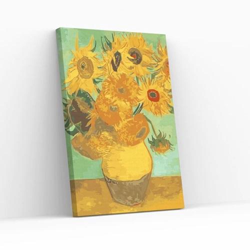 Best Pause Zonnebloemen van Vincent van Gogh - Schilderen op nummer - 40x50 cm - DIY Hobby Pakket