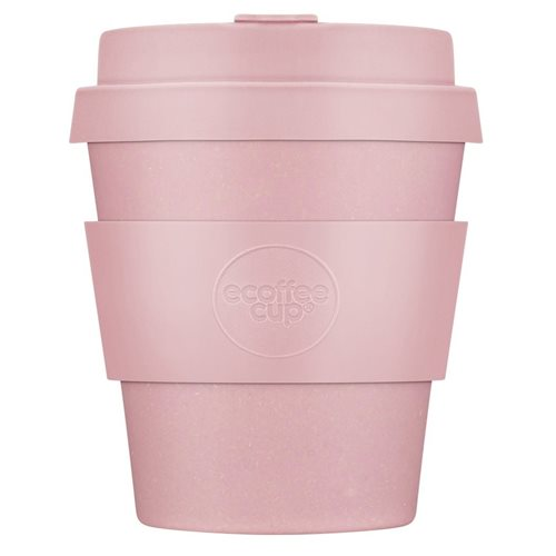 Ecoffee Cup Local Fluff - Bamboo Cup - 175 ml - with Pastel Pink Silicone