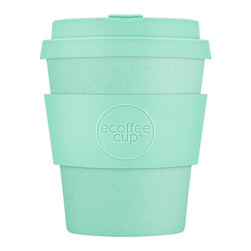 Ecoffee Cup Mince-Off - Bamboo Cup - 250 ml - with Pastel Turqoise Silicone