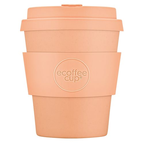 Ecoffee Cup Catalina Happy Hour - Bamboo Cup - 250 ml - with Pastel Orange Silicone