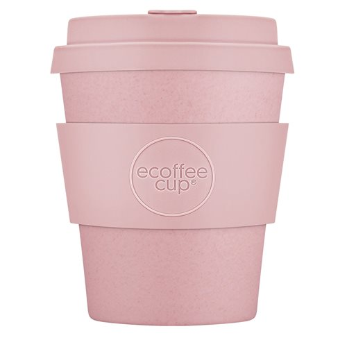 Ecoffee Cup Local Fluff - Bamboo Cup - 250 ml - with Pastel Pink Silicone