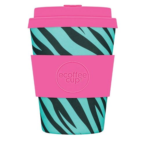 Ecoffee Cup De La Hoyde - Bamboo Cup - 350 ml - with Pink Silicone