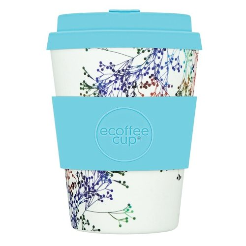 Ecoffee Cup Canning Street - Bamboo Cup - 350 ml - with Turqoise Silicone