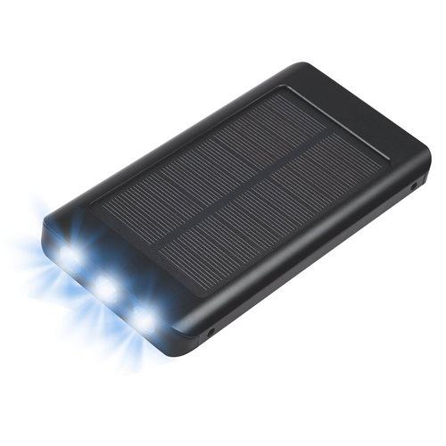 PowerPlus Sparrow - 8.000 mAh Solar USB Power Bank - with Built-in 3LED Flashlight