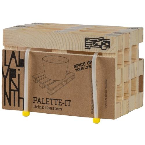 Labyrinth Palette-It - Set van 4 design pallet onderzetters