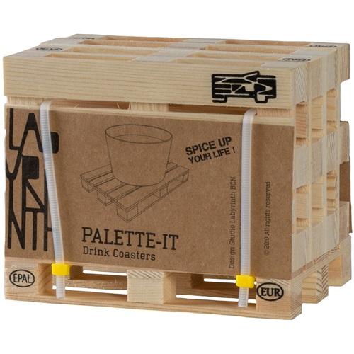Labyrinth Palette-It - Set van 5 design pallet onderzetters