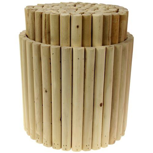 Labyrinth Wooden Massage Stool