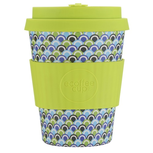 Ecoffee Cup Diggi Tre - Bamboo Cup - 350 ml - with Lime Silicone