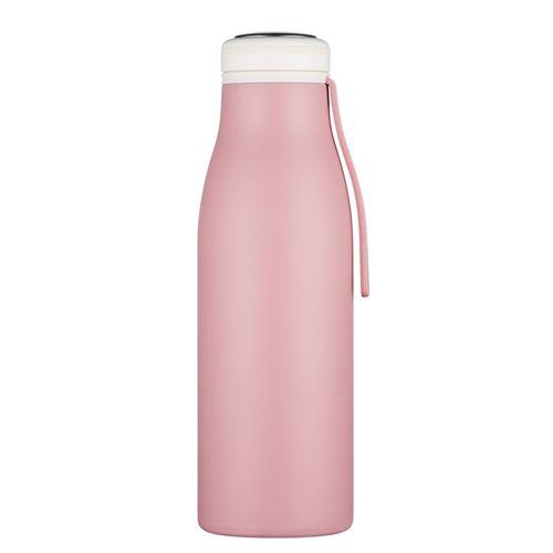 Ecoffee Cup Local Fluff - Softail Tall Heiß/Kalt Doppelwandige Thermoskanne - 500 ml - Rosa