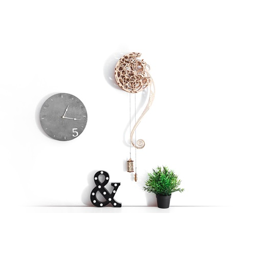 Wooden City Pendulum Clock - Wooden Model Kit