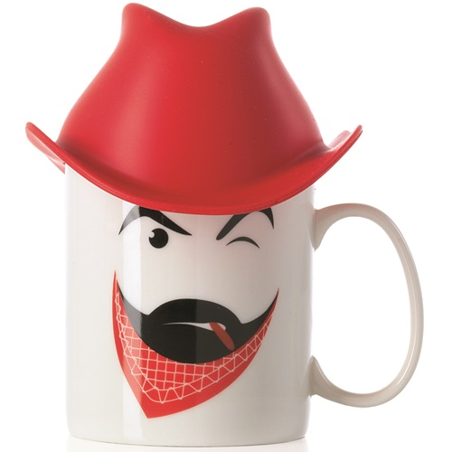 E-my - Mug with Silicone Hat - Clint with Red Cowboy Hat
