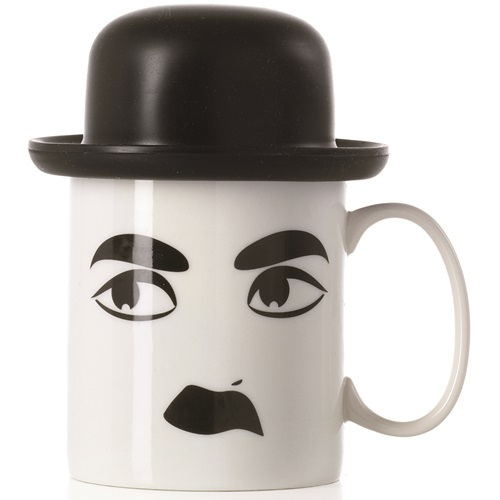 E-my - Mug with Silicone Hat - Charlie with Black Bowler