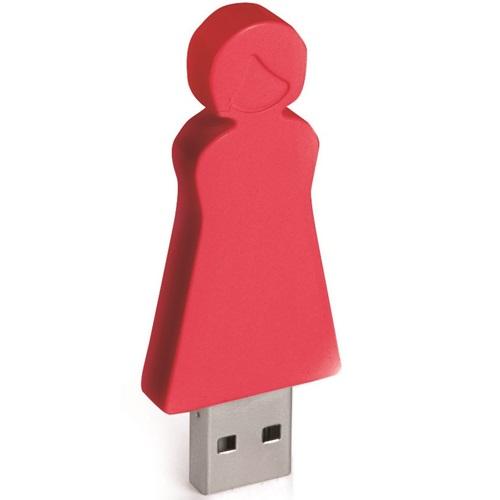 E-my - 4 GB USB Stick Moeder - Rood