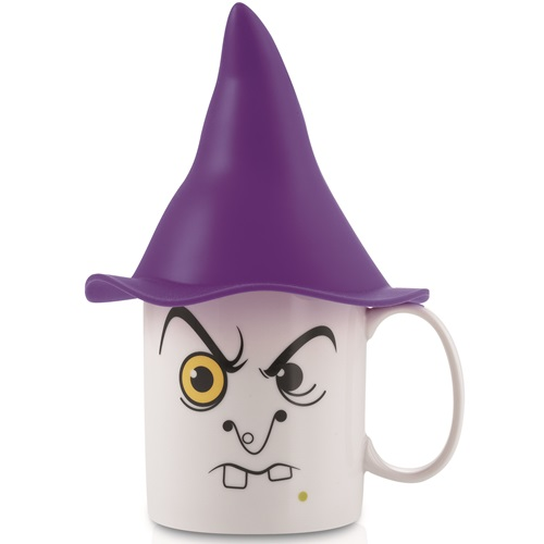 E-my - Mug with Silicone Hat - Morgana with Purple Point Hat