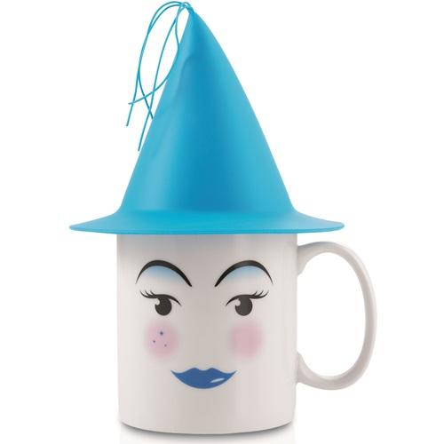 E-my - Mug with Silicone Hat Blue - Sky Blue