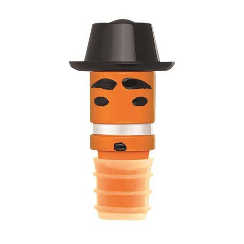 E-my - Wine Hats Bottle Stopper - Mr Porkpie Orange