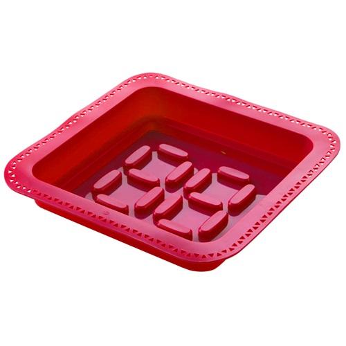 E-my - Cakevorm met Spuitzak Vierkant - Rood