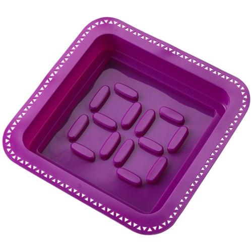 E-my - Cakevorm met Spuitzak Vierkant - Paars