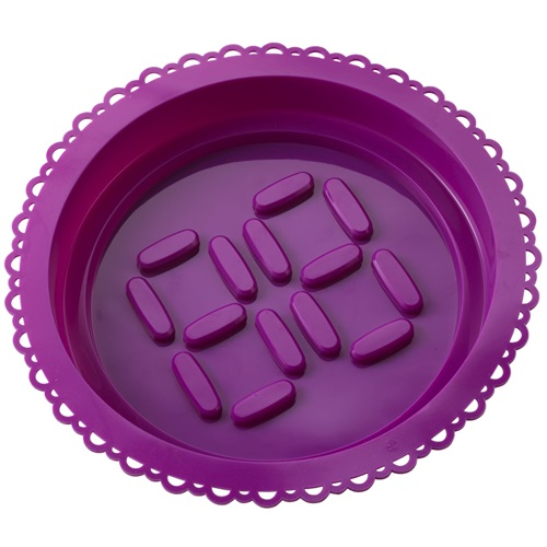 E-my - Cake Mold with Piping Bag Roundy - Violet