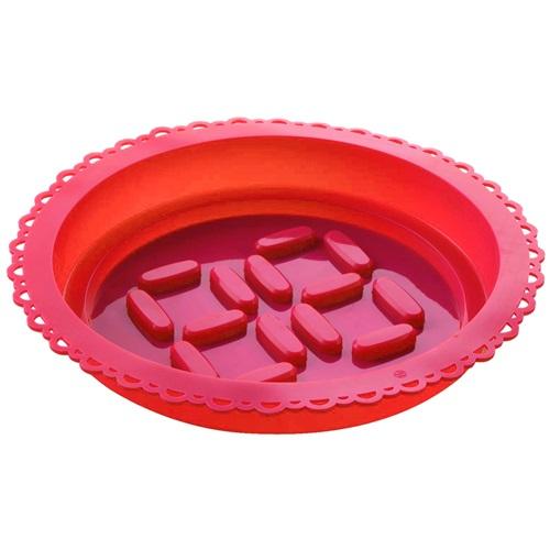 E-my - Kuchenform mit Spritzbeutel Rundlich - Rot