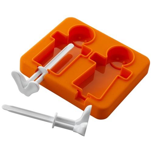 E-my - Stieleis Form Eismenschen - Orange