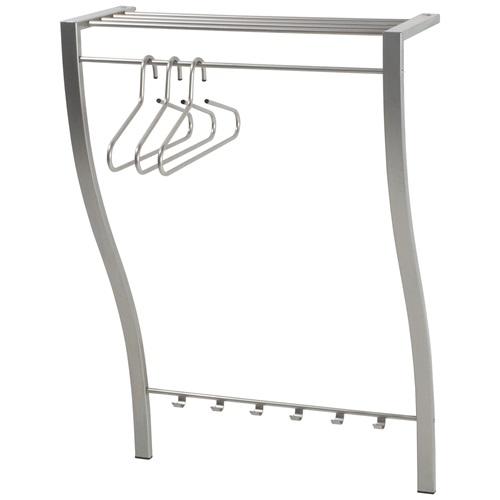 Spinder Design Carve 1 Wall Coat rack with 6 hooks 75x29x113 – Nickel