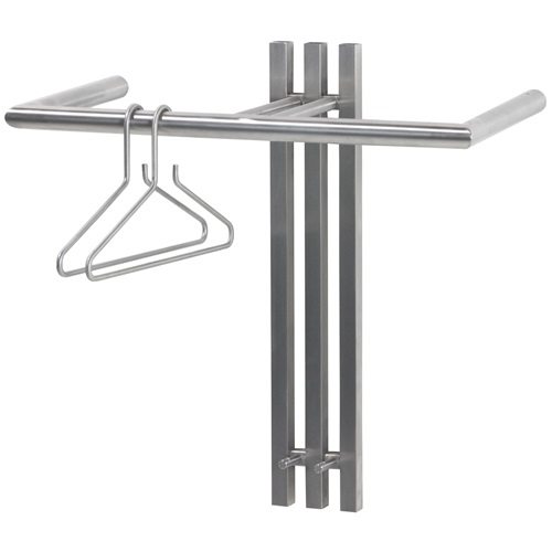 Spinder Design Senza 1 Wall Coat rack with 2 hooks 65x28x63.5 - Stainles Steel