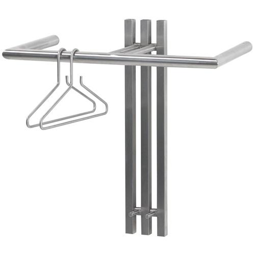Spinder Design Senza 1 Wandkapstok met 2 haken 65x28x63,5 - RVS