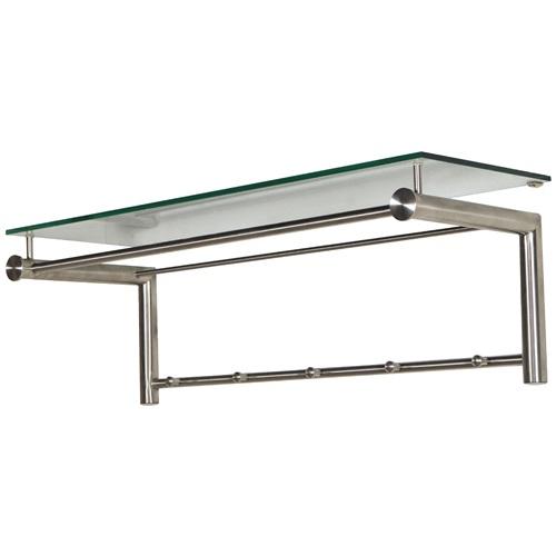 Spinder Design Suza 5 Wandgarderobe mit 5 Haken 79x29x28 - Edelstahl/Glas