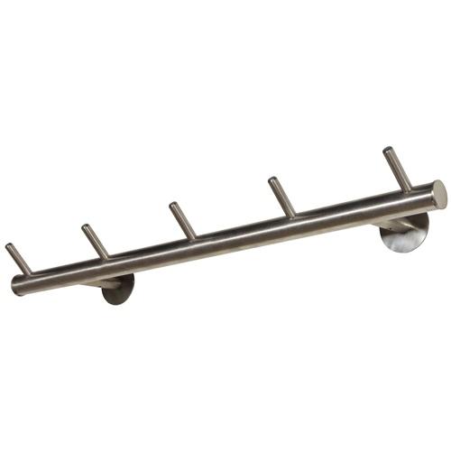 Spinder Design Odin 02 Wandkapstok met 5 haken 55x13x8 - RVS