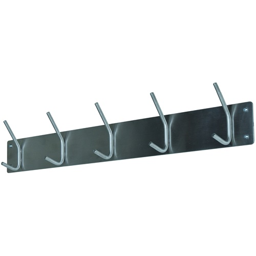 Spinder Design Fusion Wall Coat rack with 5 hooks 70x6x11.5 - Stainless Steel