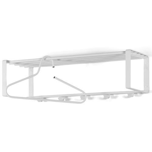 Spinder Design Rex 2 Wall Coat rack with 5 hooks 70x29x19 - White