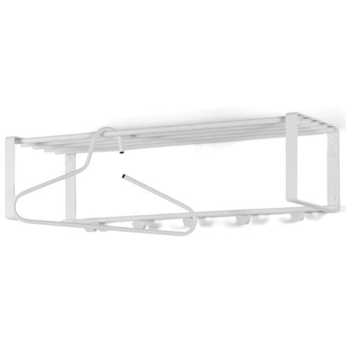 Spinder Design Rex 2 Wandgarderobe 70x29x19 - Weiß