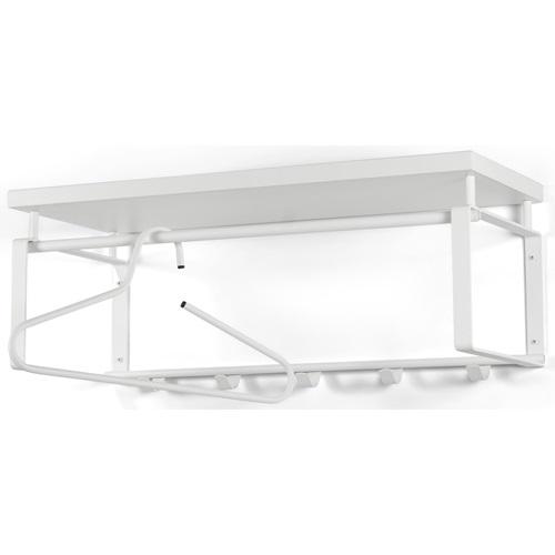 Spinder Design Rex 3 Wandgarderobe mit 5 Haken und Hutablage 70x29x28 - Weiß