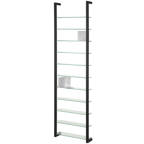 Spinder Design Cubic Wall rack with 11 Shelves - Black