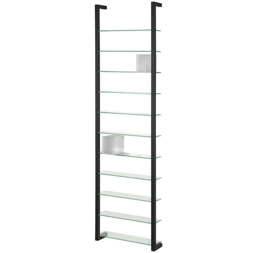 Spinder Design Cubic Wall rack with 11 Shelves - Black