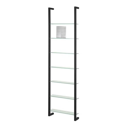 Spinder Design Cubic Wall rack with 7 Shelves - Black