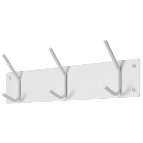 Spinder Design Fusion Wall Coat rack with 3 hooks 40x6x11.5 - White