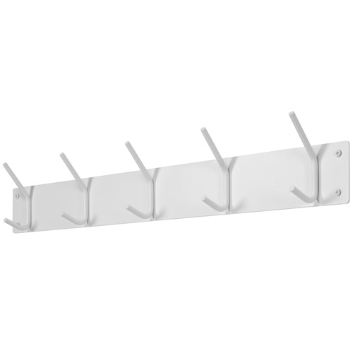Spinder Design Fusion Wandgarderobe mit 5 Haken 70x6x11.5 - Weiß